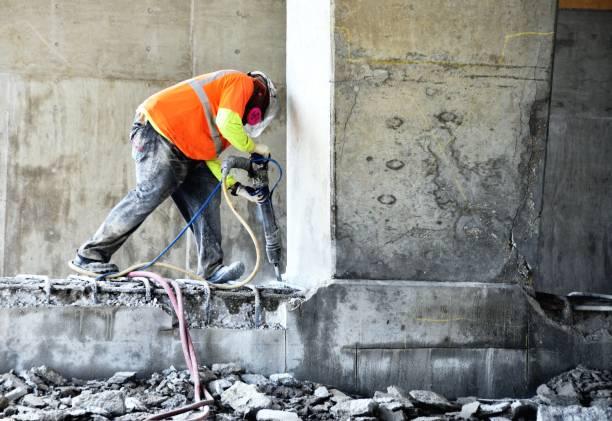 Brechen von Beton – Foto
