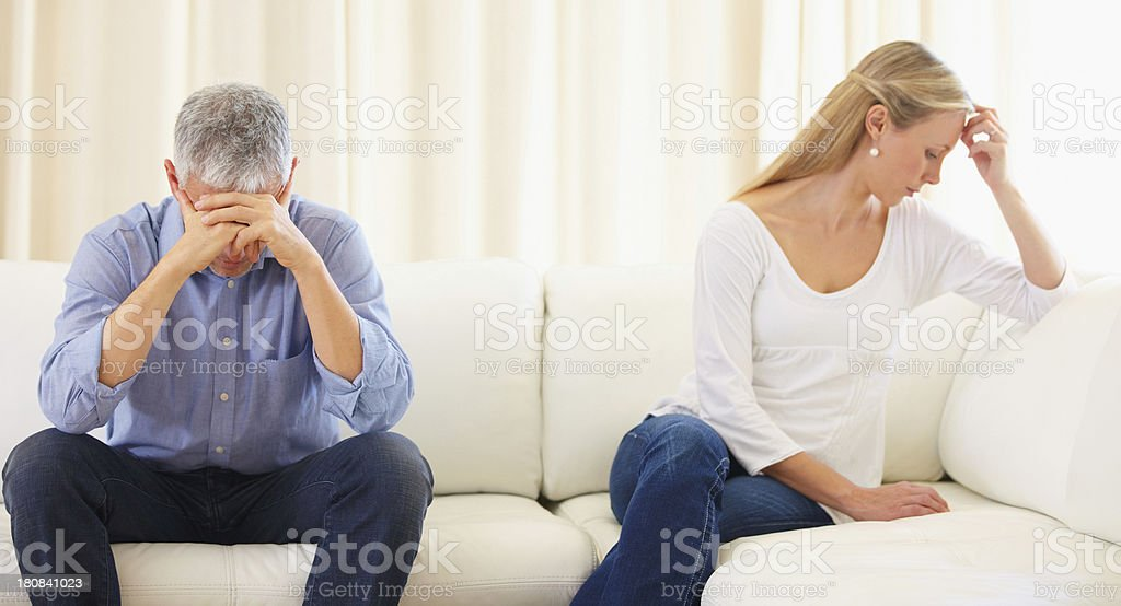 Breaking down of a marriage - Poor communication royalty-free stock photo
