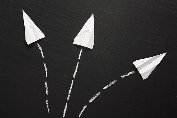 breaking formation - dotted line stock photos and pictures