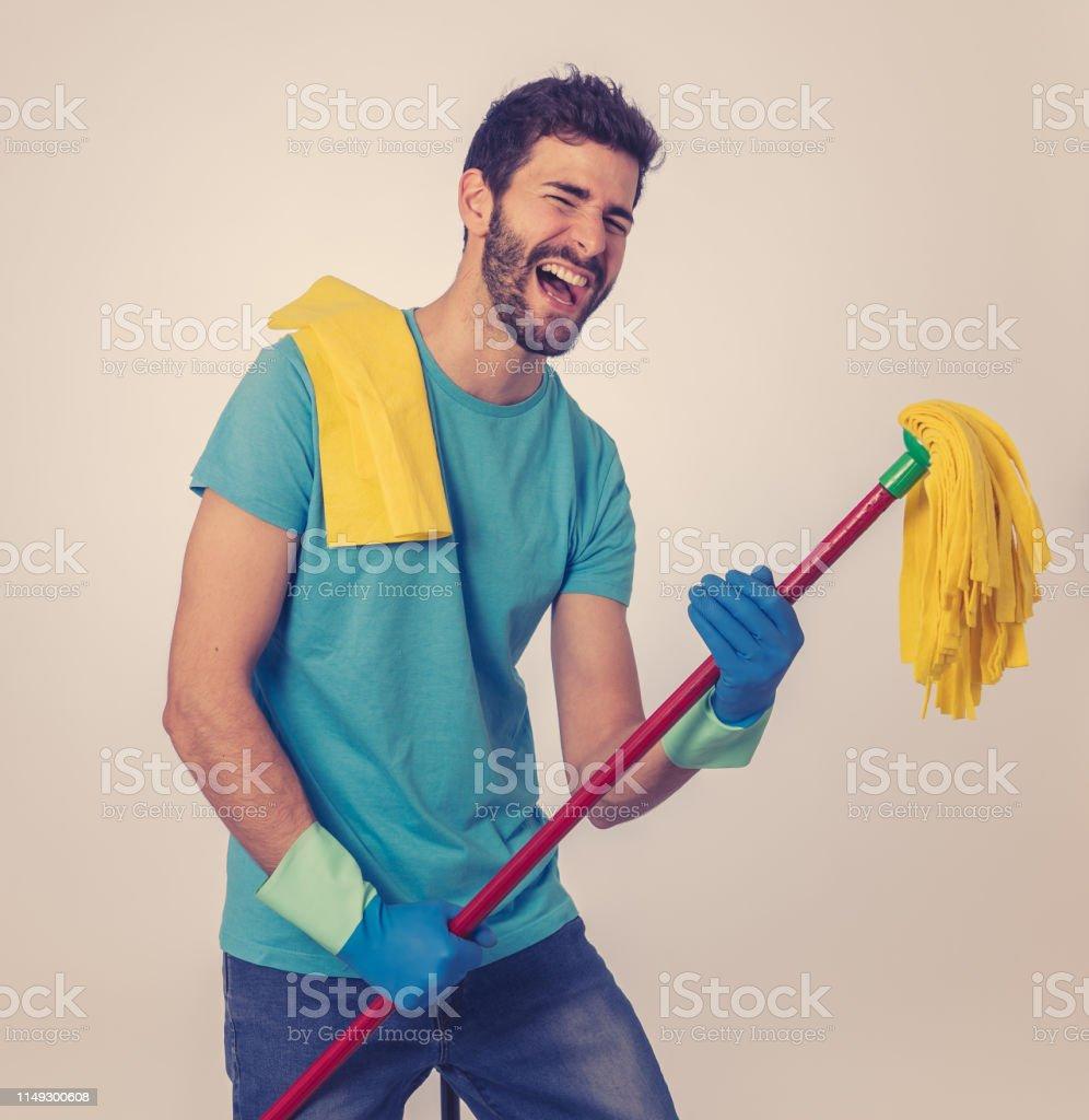 Breaking gender stereotypes. Portrait of happy young man having fun...