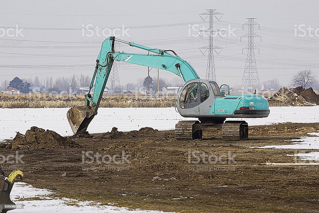 Breaking Ground on a New Subdivision 2 stock photo