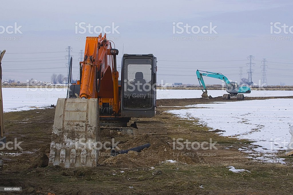 Breaking Ground on a New Subdivision 5 stock photo