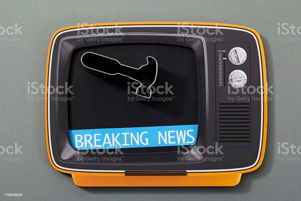 Breaking news on tv royalty-free stock photo