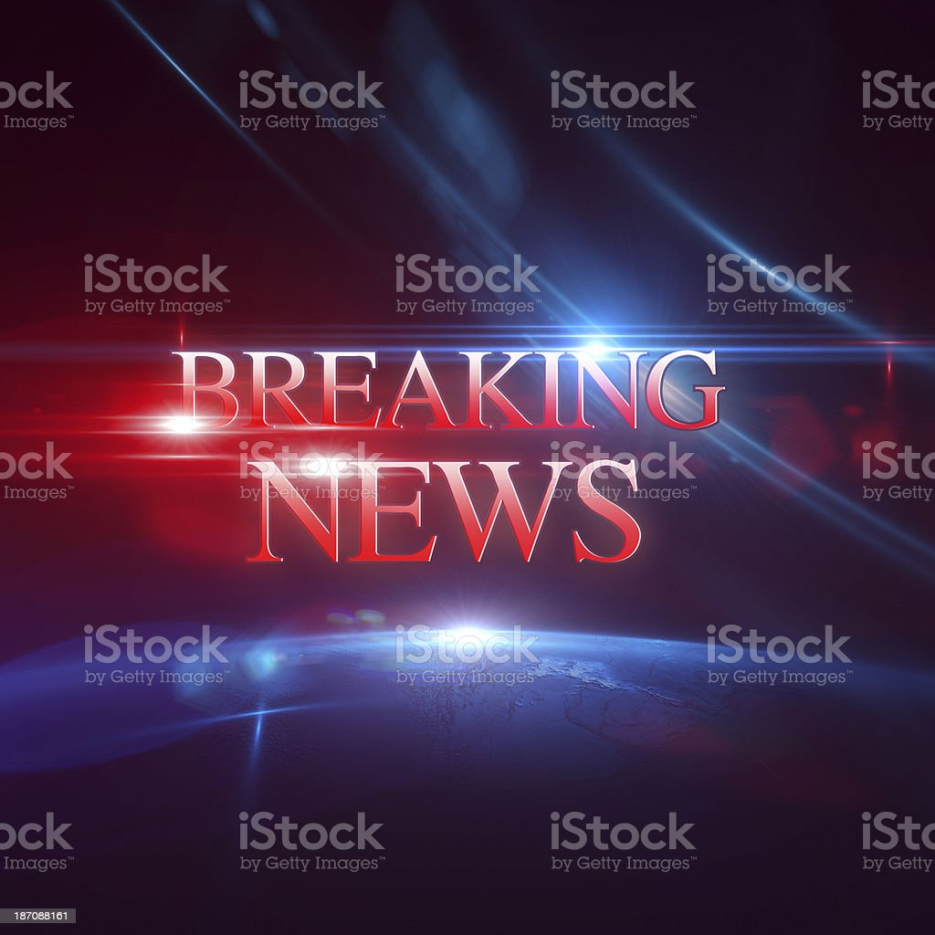 Breaking News stock photo
