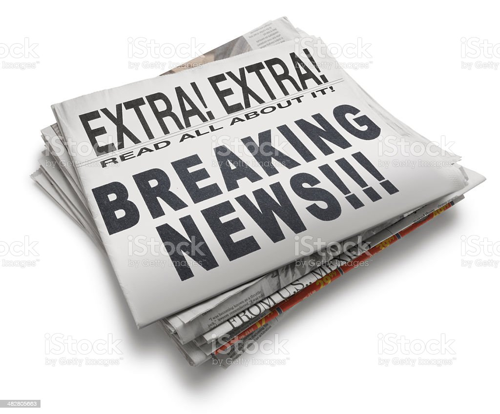 Breaking News royalty-free stock photo