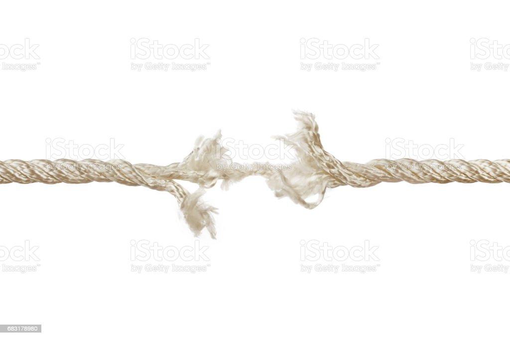 Breaking rope stock photo