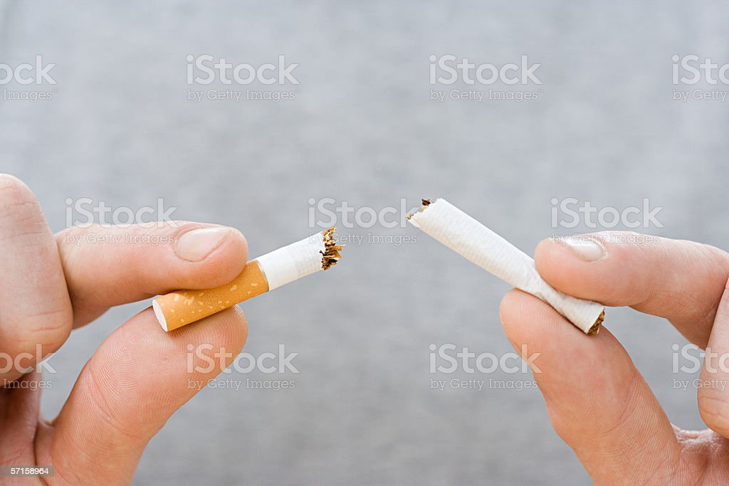 Breaking the habit stock photo