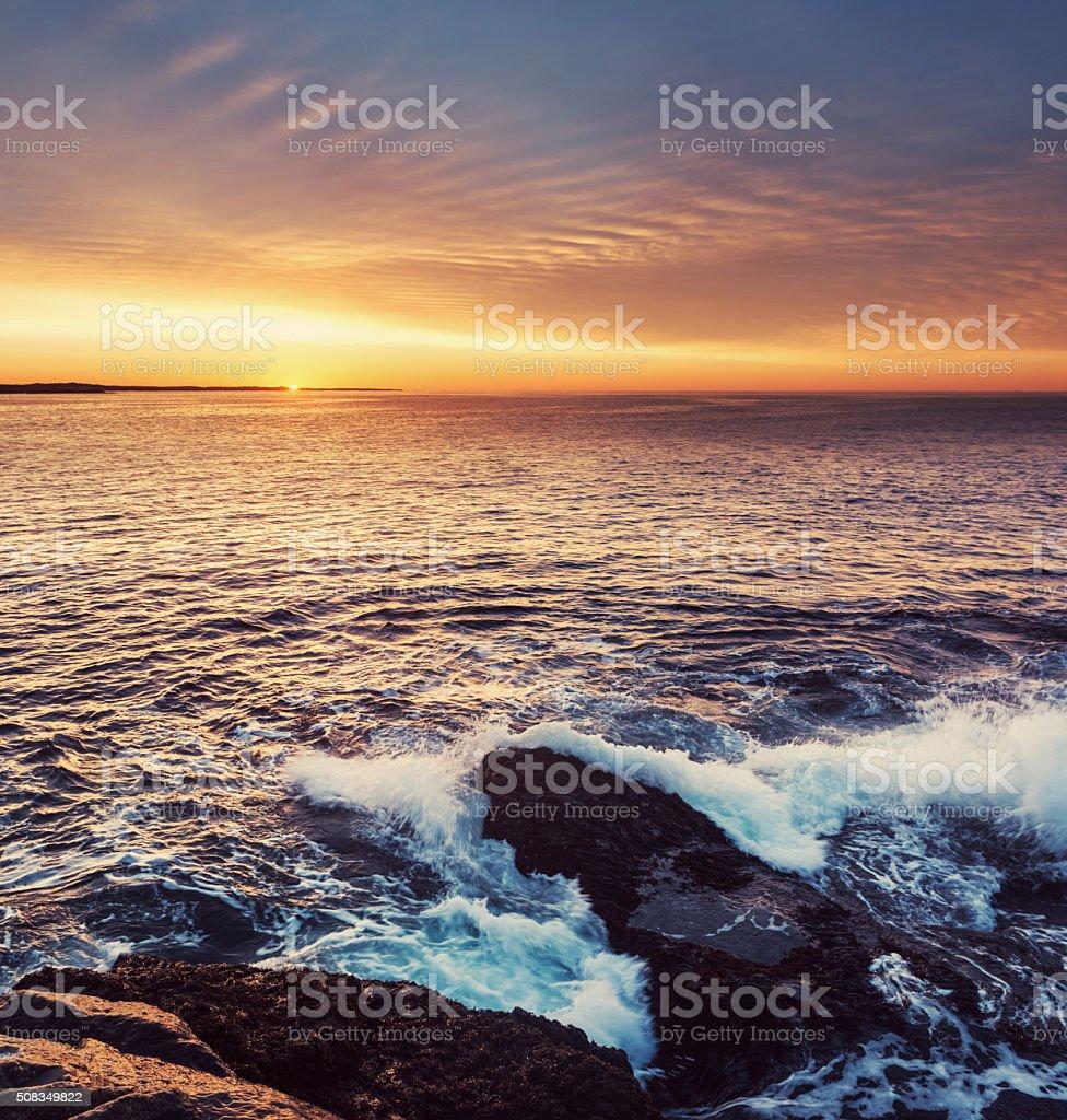 Breaking The Horizon stock photo
