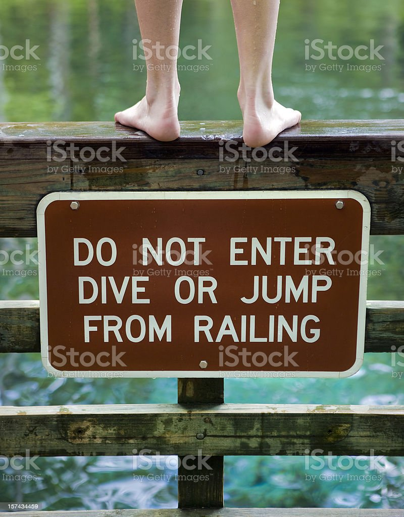 Breaking the Rules royalty-free stock photo