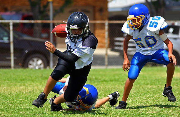 Breaking the Tackle stock photo