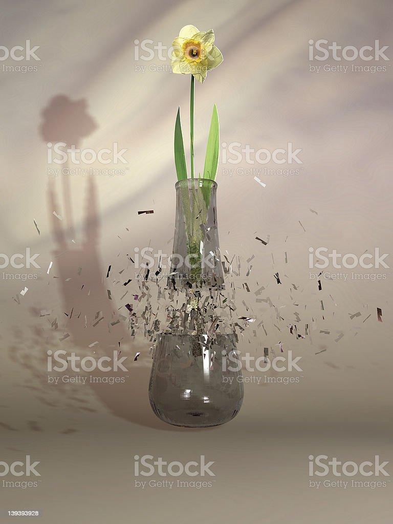 Breaking vase stock photo