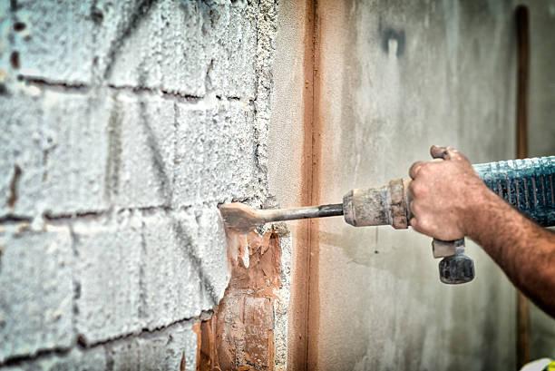 Breaking wall stock photo