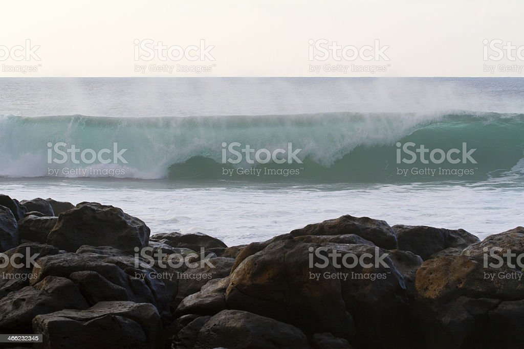 Breaking Wave Rocky Point royalty-free stock photo