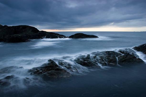 Breaking waves 2. stock photo