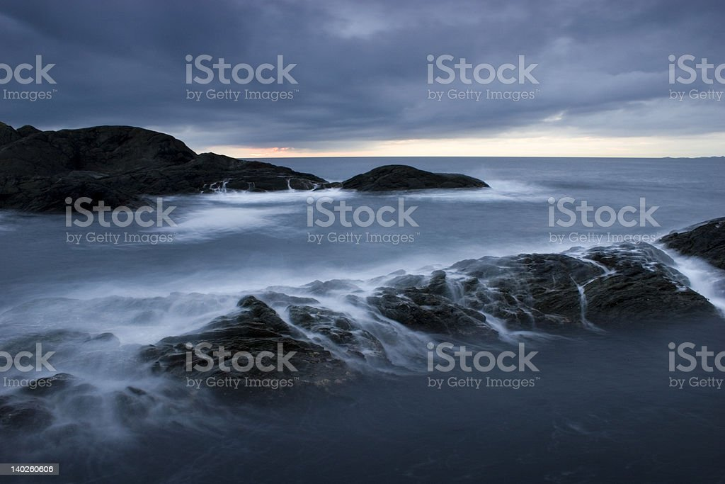 Breaking waves 2. stock photo