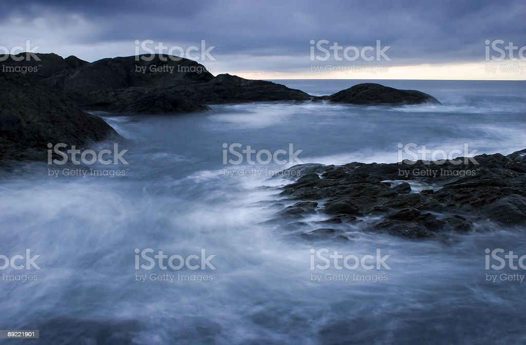 Breaking waves 4. stock photo