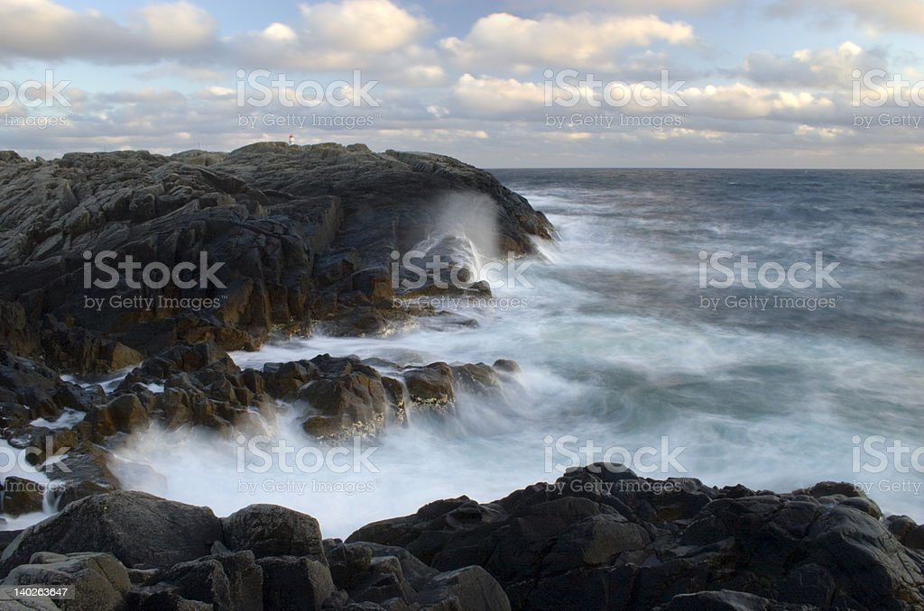Breaking waves 5. stock photo