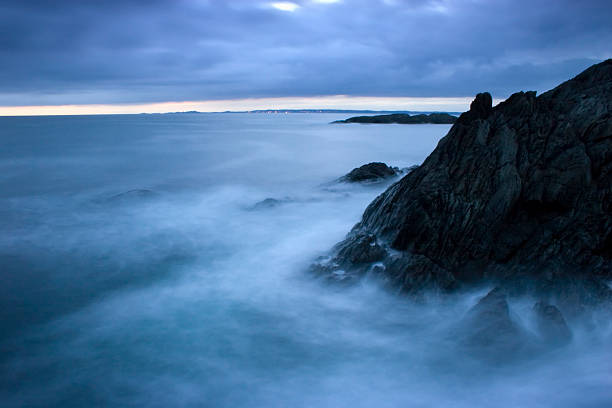 Breaking waves. stock photo