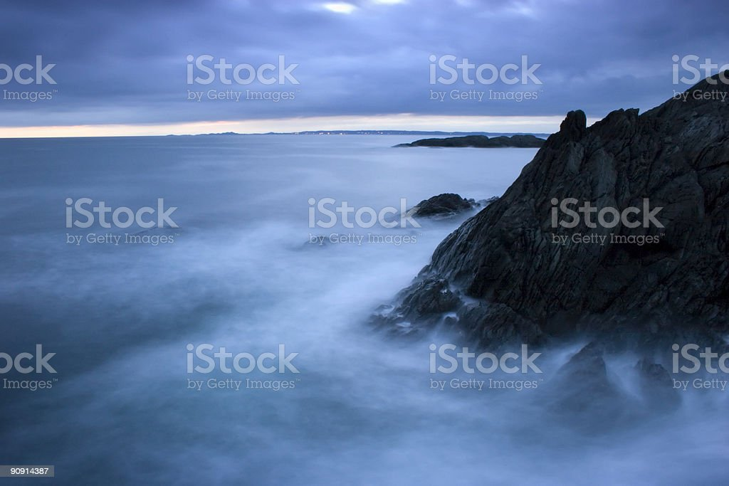 Breaking waves. stock photo