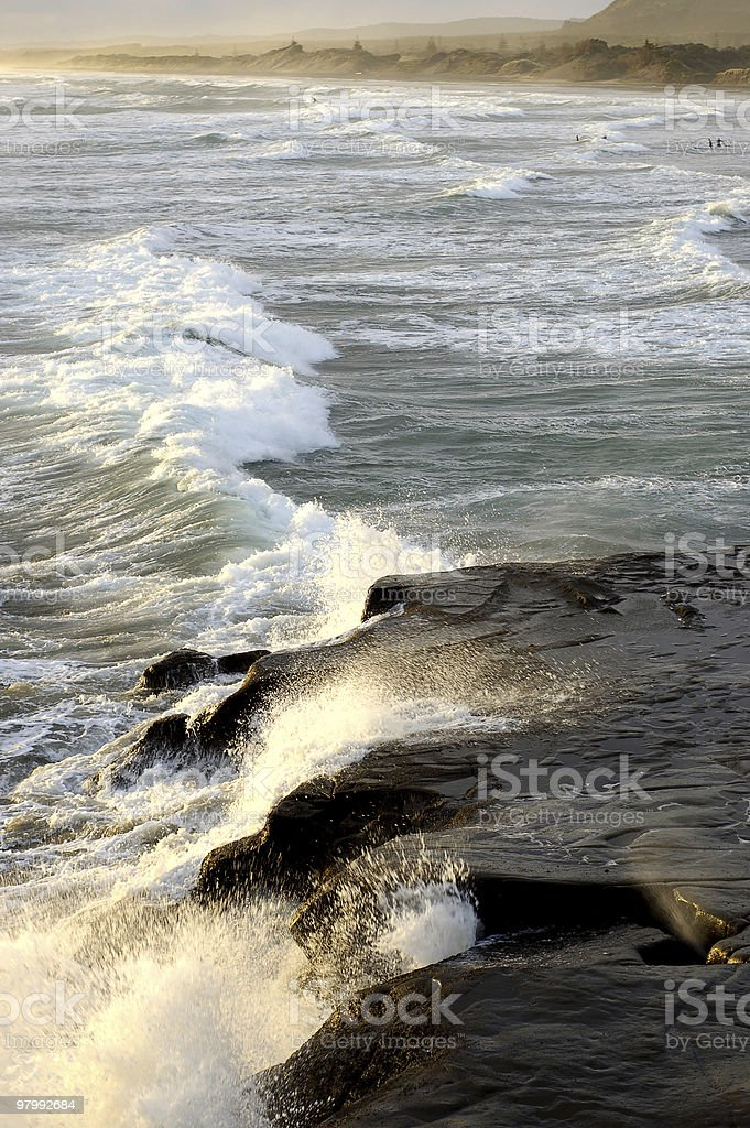 Breaking Waves royalty-free stock photo