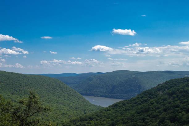 Breakneck Ridge Mountain Range Overlooking Hudson River stock photo