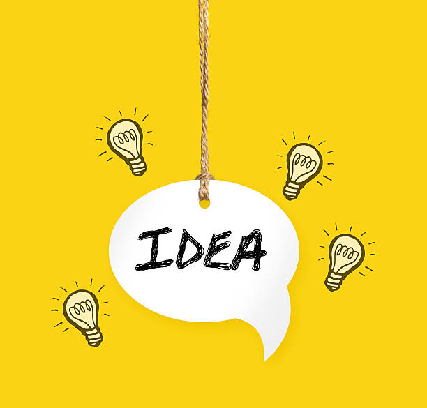 Breakthrough Bright Idea stock photo