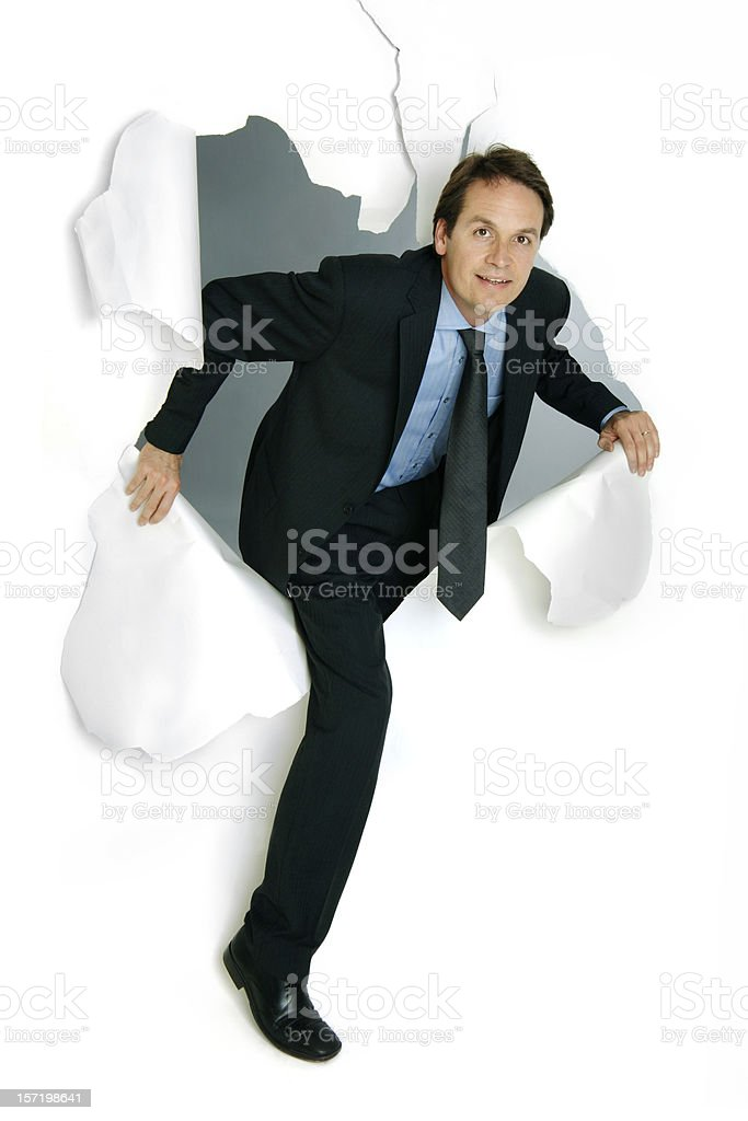 Breakthrough Businessman stock photo