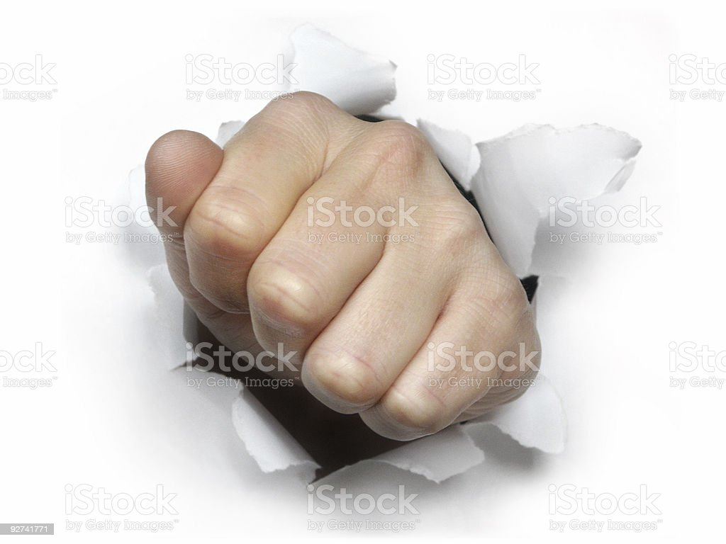 breakthrough - Fist royalty-free stock photo