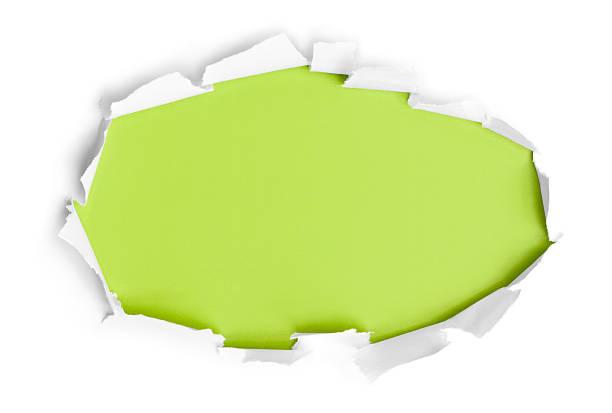 Durchbruch Papier Kreis – Foto