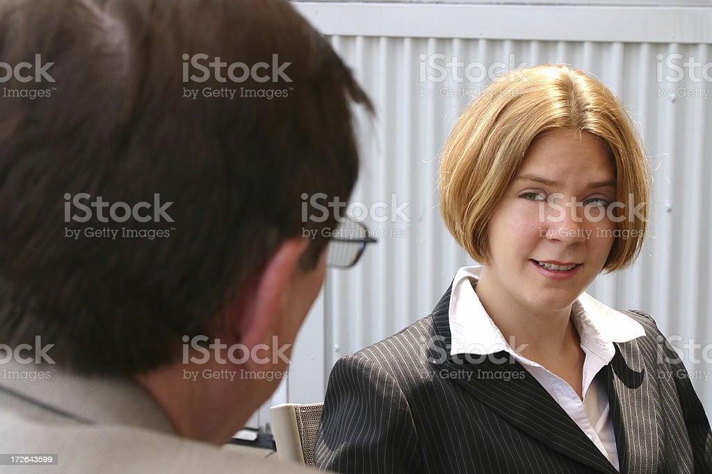 Breaktime Conversation royalty-free stock photo