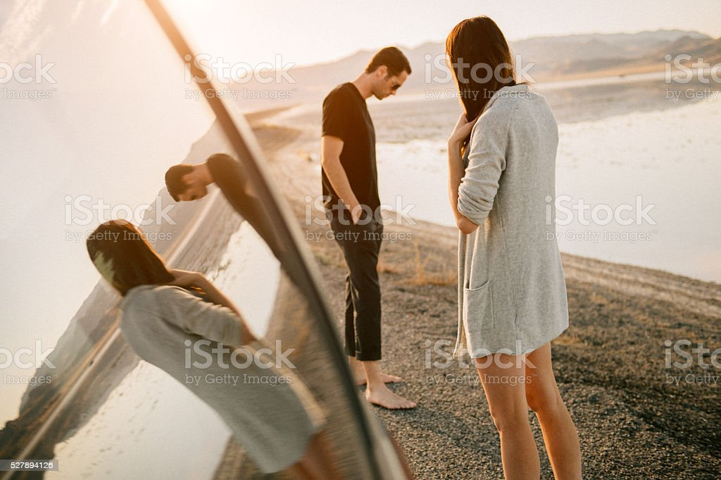 Breakup on vacation stock photo