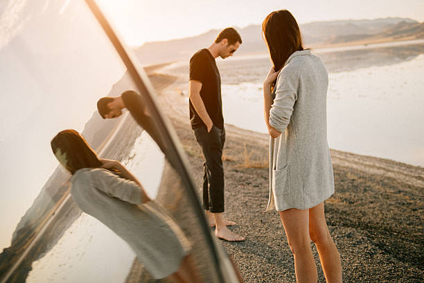 Breakup on vacation bildbanksfoto