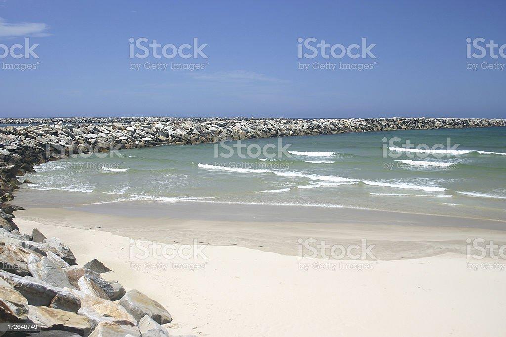 Breakwall Beach royalty-free stock photo