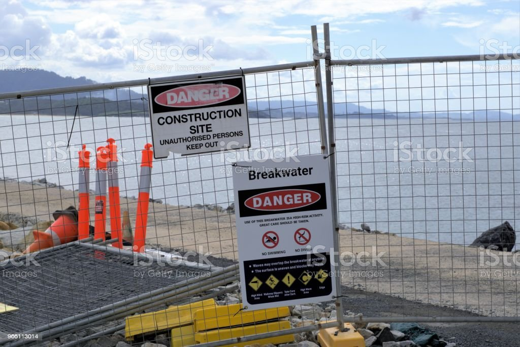 Vågbrytaren byggarbetsplats i Australien - Royaltyfri Arbeta Bildbanksbilder
