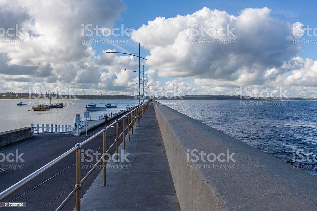 Breakwater, Lady Bay, Warrnambool, Australia stock photo