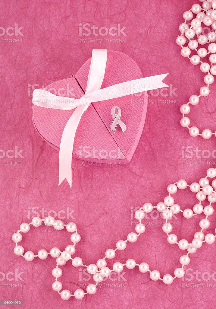 Breast Cancer Awareness Ribbon Pin royalty-free stock photo