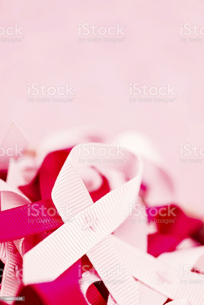 Breast Cancer Awareness Ribbons royalty-free stock photo