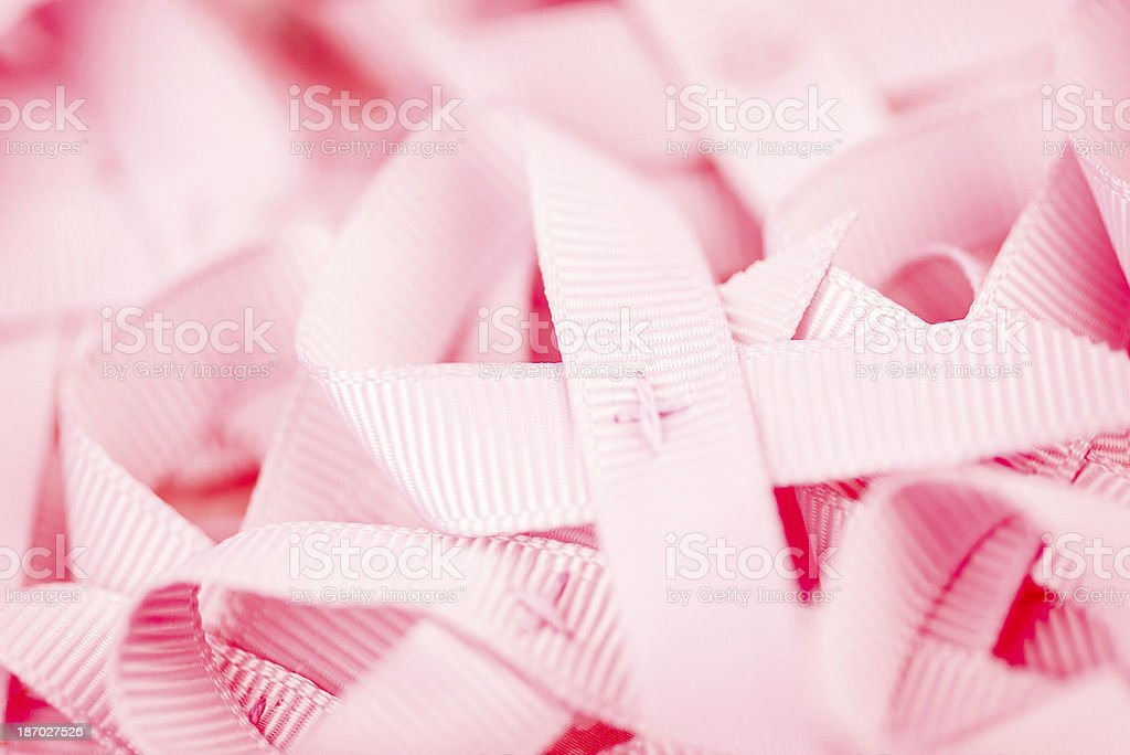 Breast Cancer Awareness Ribbons stock photo