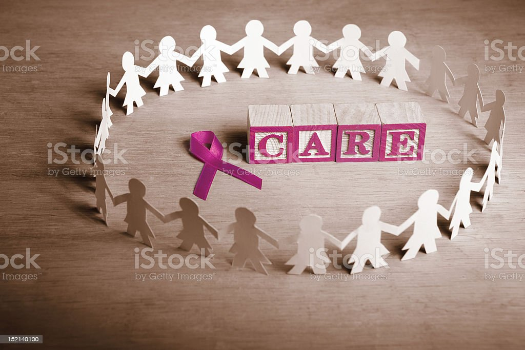Breast cancer care royalty-free stock photo