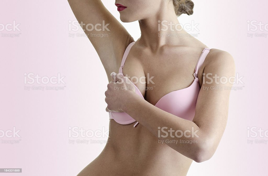 Breast cancer exam stock photo