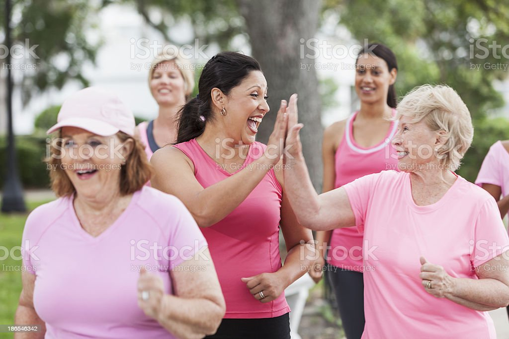 Breast cancer rally stock photo