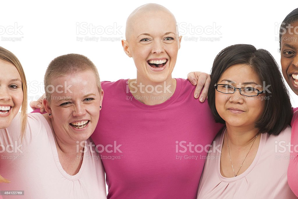 Breast cancer support group stock photo