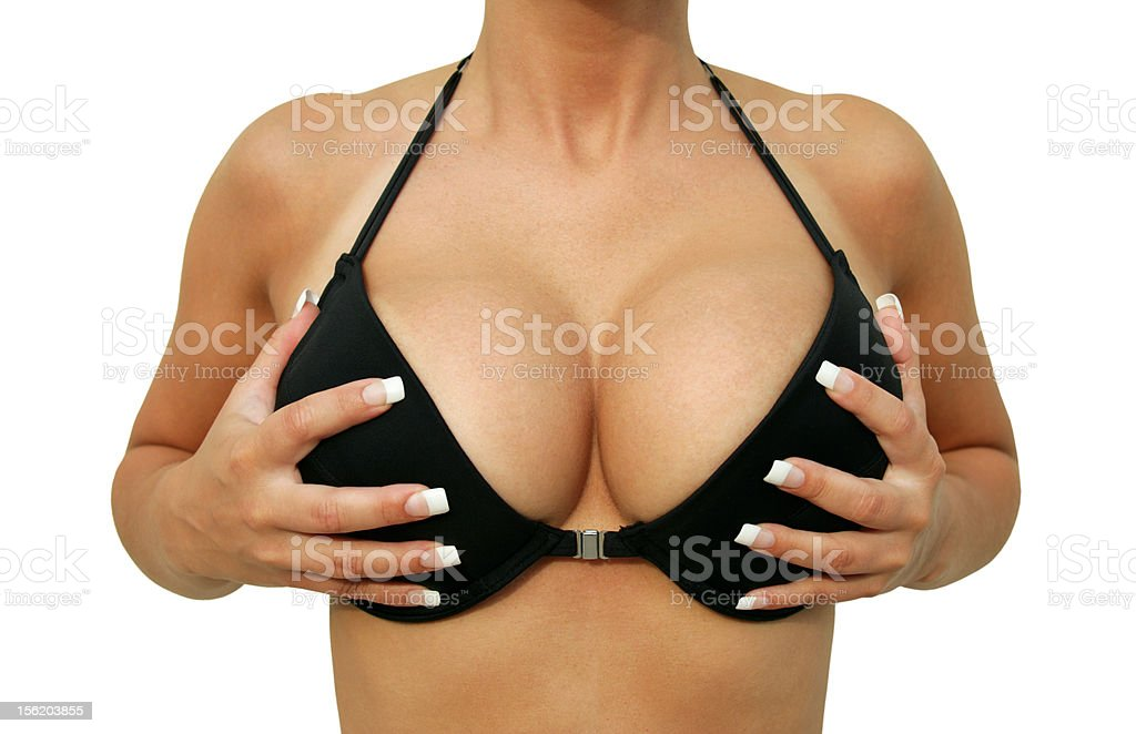 breast enlargement bildbanksfoto