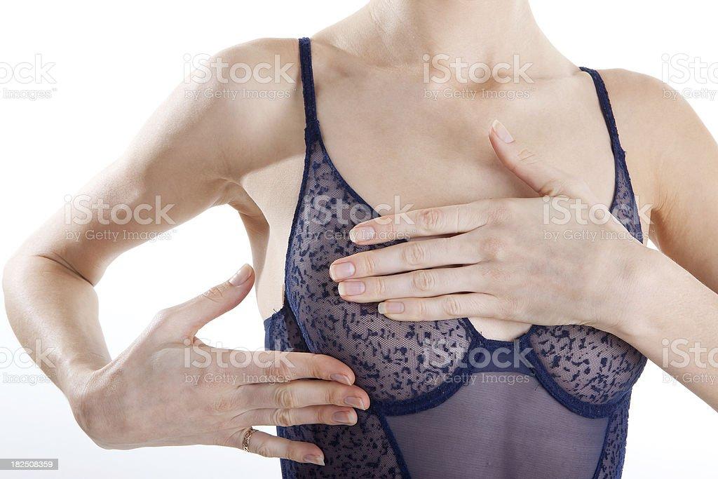 Breast Exam. XL royalty-free stock photo
