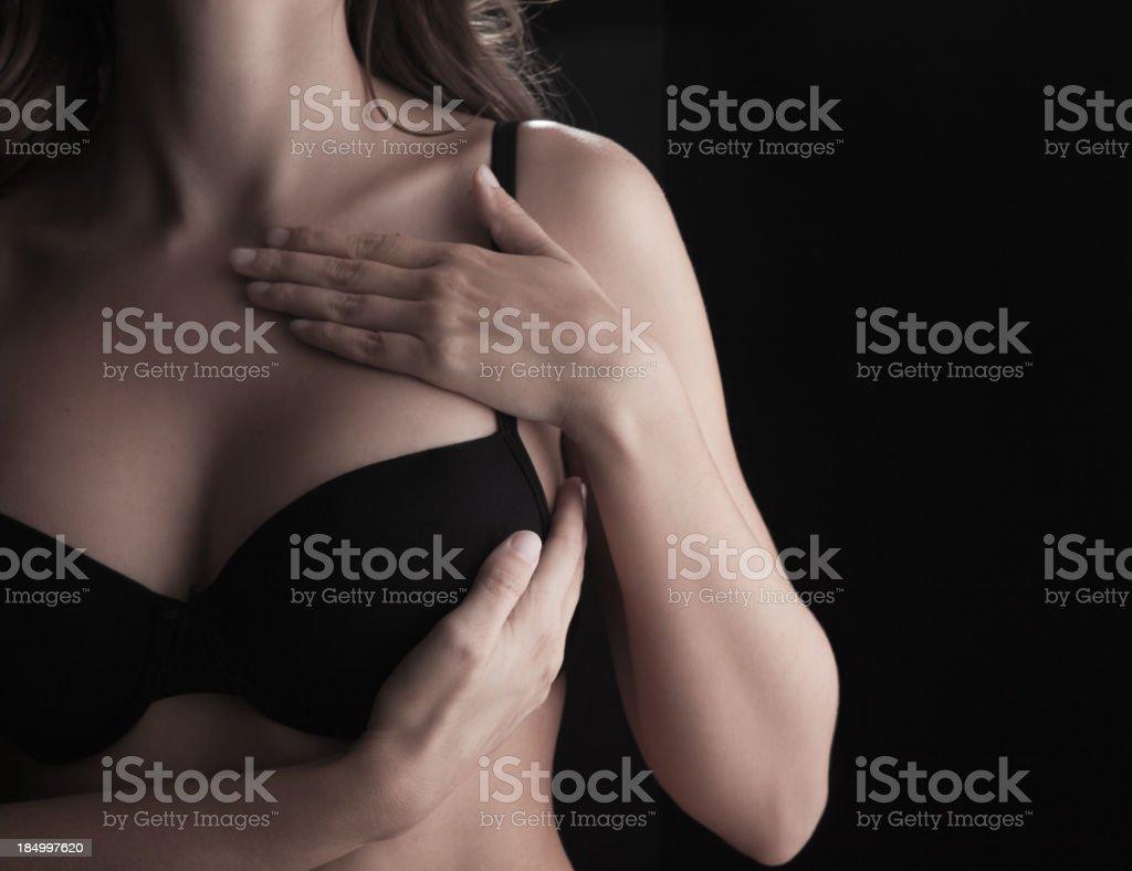 Breast examination. royalty-free stock photo