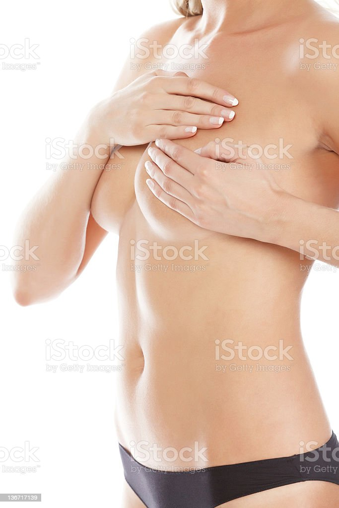 Breast palpation royalty-free stock photo