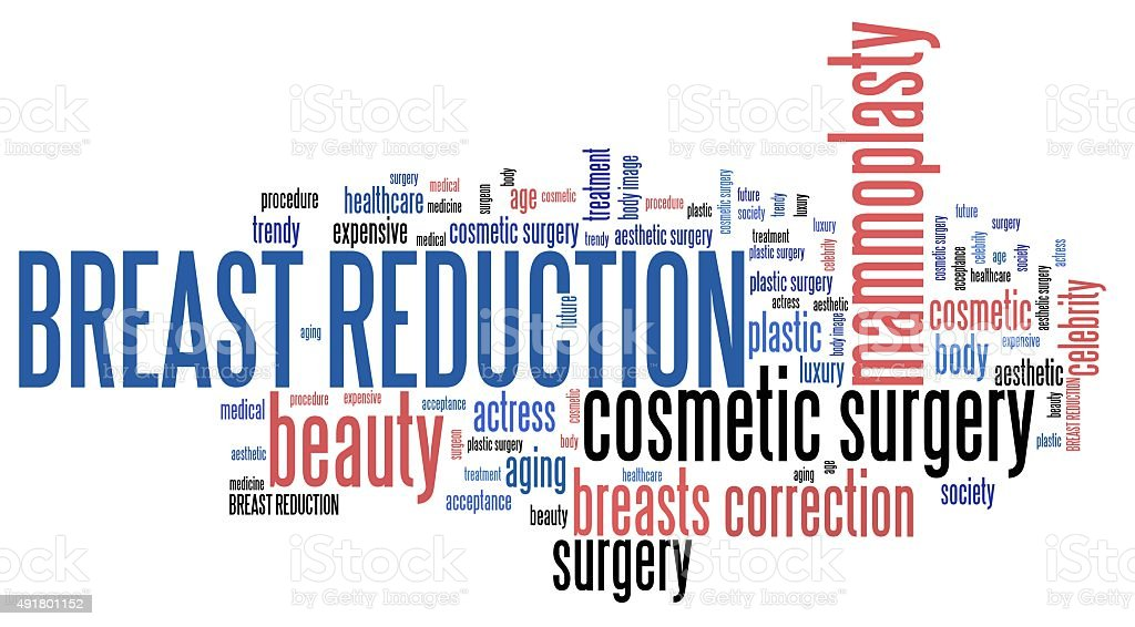 Breast reduction stock photo