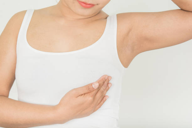 Breast Screening in Women with Breast stock photo