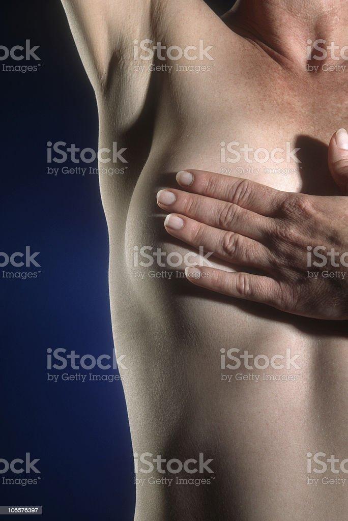 Breast Self Exam stock photo