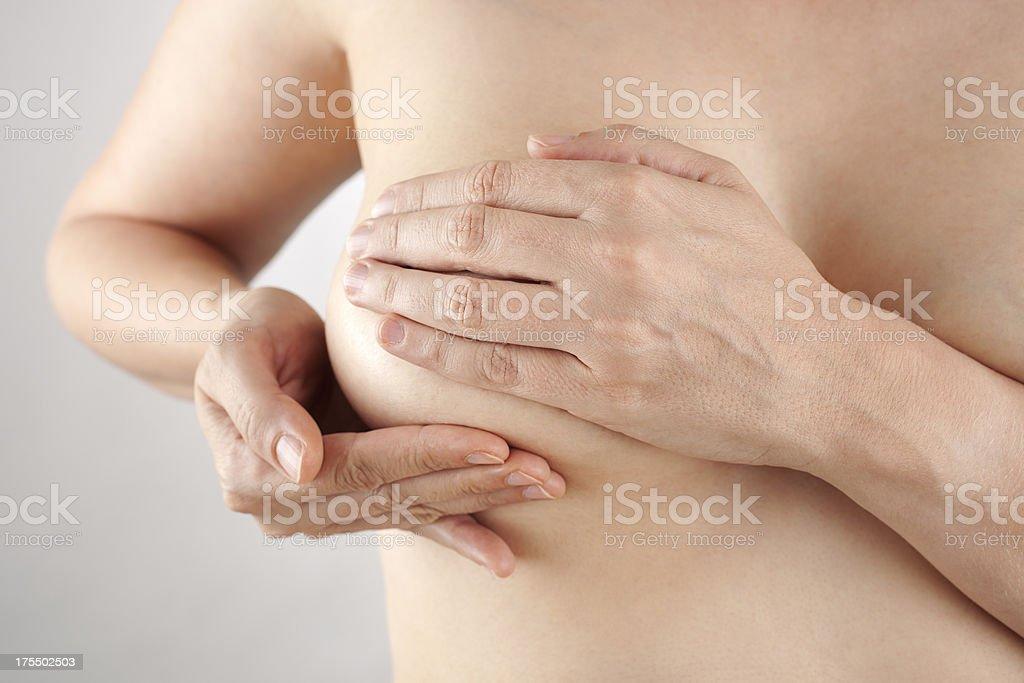 Breast self exam royalty-free stock photo